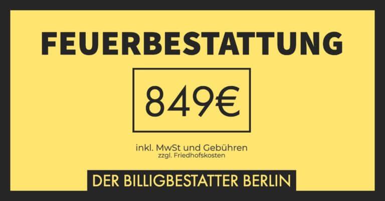 Billigbestattung - Feuerbestattung für 849€ inkl. MwSt. und Gebühren