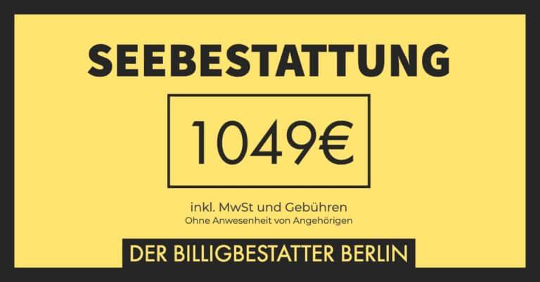 Seebestattung nur 1049€ - Billigbestatter Berlin